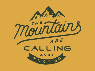 The Mountains outdoors mountains logo banner type lettering typography hand drawn type
