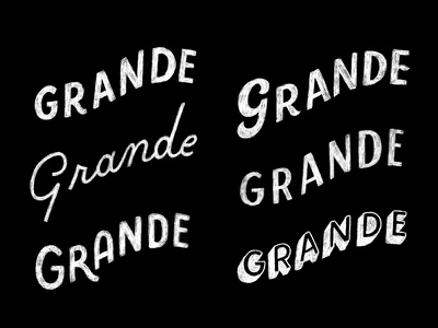 Grande Sketches script drop shadow pencil sketch type hand lettering lettering