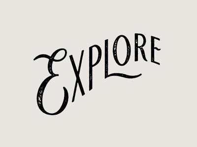 Explore adventure explore hand lettering stamp texture lettering
