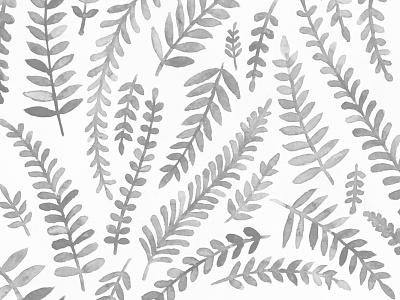 Watercolor Floral Pattern illustration vine fern watercolor pattern floral