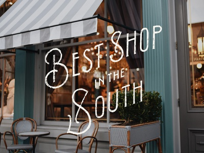 Best Shop in the South southern living instagram editorial georgia savannah type lettering