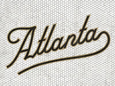 Atlanta Mosaic Type faux vintage brass hex type tile mosaic lettering