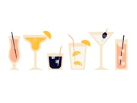 Cocktails drinks bubbles whiskey coke margarita martini cocktail screen print vintage superior textures