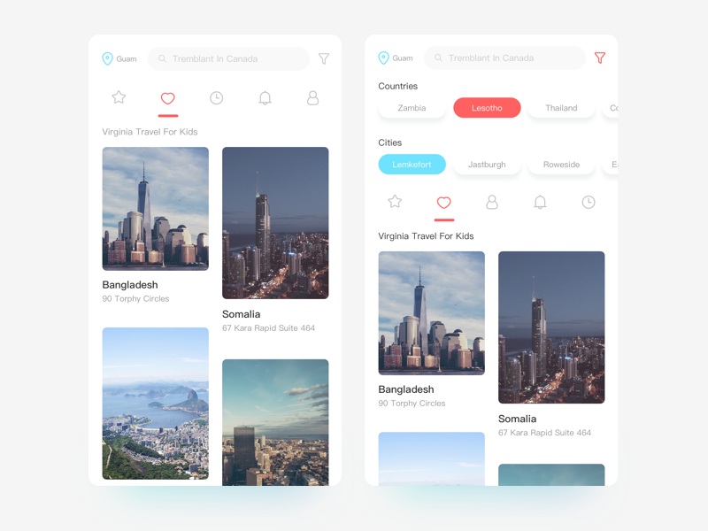 Travel application 04 travel icon app ue ui