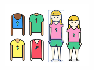 New Keybase Humans the girl with the key illustration keybase