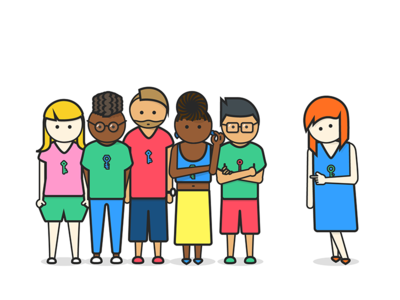 New Keybase Humans (2) the girl with the key humans illustration keybase