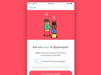 Kick susan out? - Keybase humans illustration keybase