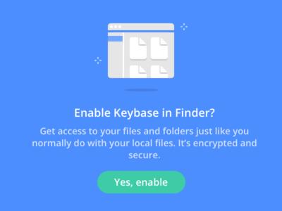 Enable Keybase in Finder? finder enable keybase