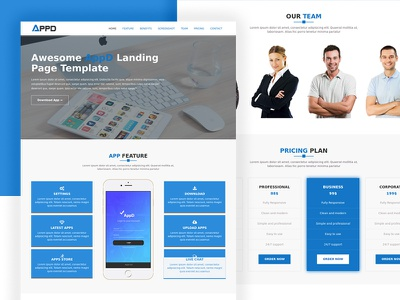 AppD-Apps Landing Page Responsive Template one-page bootstrap landing-page mobile-apps app-template appd-apps