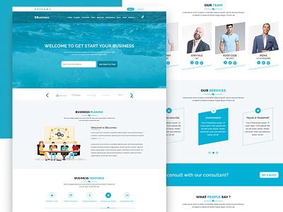 BBusiness - Onepage Business PSD Template psd portfolio modern minimal landing finance corporate company bbusiness agency onepage business