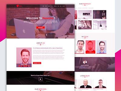 Nandine Portfolio Template portfolio responsive portfolio landing page portfolio html template portfolio bootstrap template portfolio html5 creative business template bootstrap template