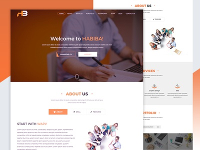 Habiba Portfolio and CV Template