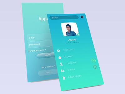 Simple Apps Mockup free-mockup apps-design web design illustrator adobe graphic simple mockup apps