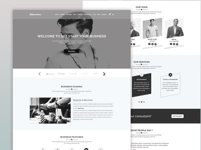 BBusiness - Onepage Business Landing Template portfolio modern minimal landing page corporate consulting company business bbusiness animation agency