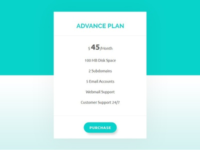 Pricing Table Design portfolio onepage modern minimal landing page html5 company business design pricing