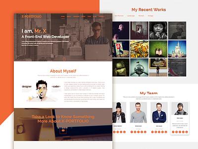 X-Portfolio HTML-5 Template responsive portfolio photography jquery html-5 template photoshop