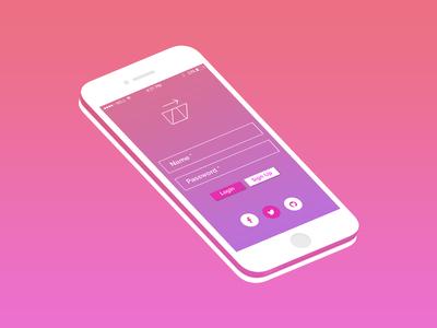 Login Apps design