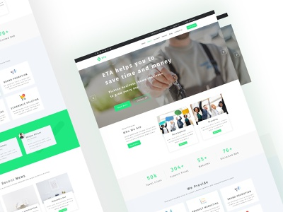 Eta Multipurpose Business, Hosting, Consulting Template landing page graphic design bbusiness portfolio photoshop company one page multipurpose modern design hosting consulting business agency
