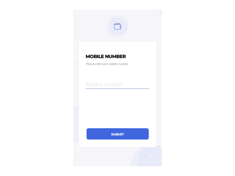 Enter Mobile Number blue and white attachments expense app trax track ios app android app card branding wallet icons phone number blue submit button input enter mobile number ui  ux design ui trending ui