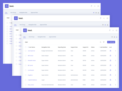 taut - user management app