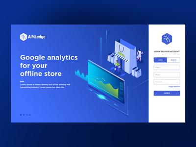Landing Page Deisgn - AimLedge