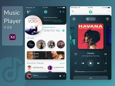 Music Player V2.0 player music design app ux ui
