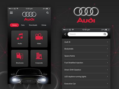 Audi App Design