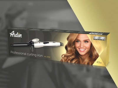 Curling iron package design