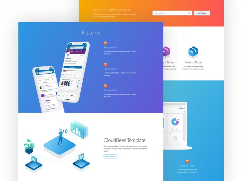 Hi-Fi Template System webdesign uxdesign systemdesign ui template