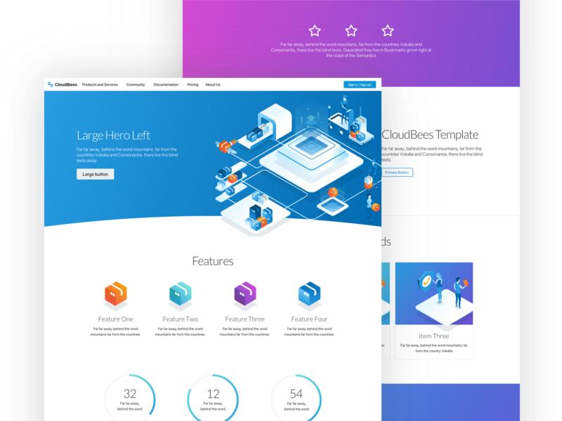 Hi-Fi Template System templatedesign webdesign uidesign designsystem