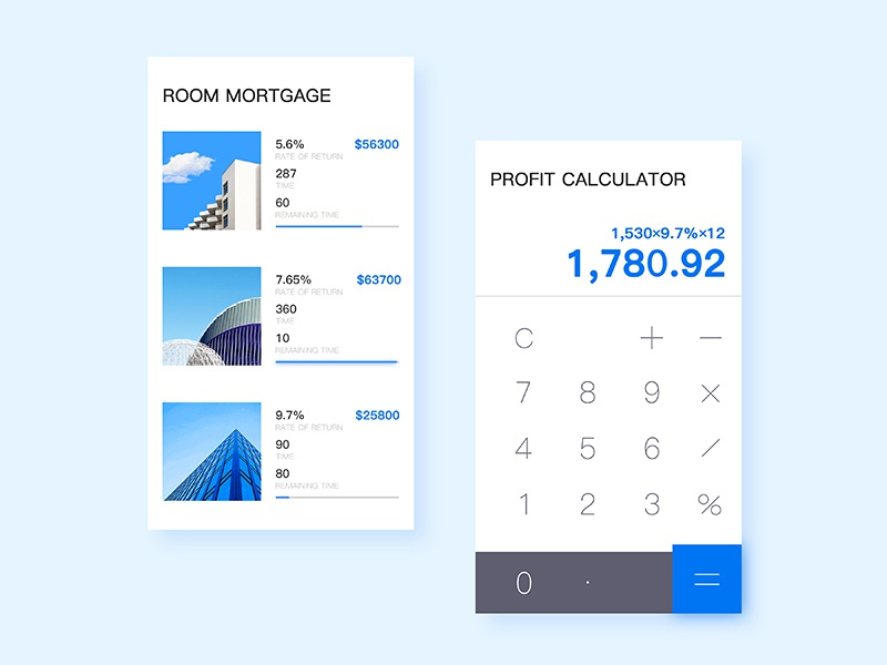 Finance APP calculator list finance