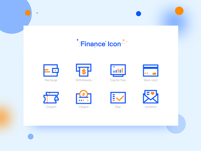 Finance icon rectangle app finance icon