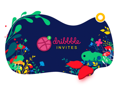 Dribbble invites shot player flower illustration invites dribbble
