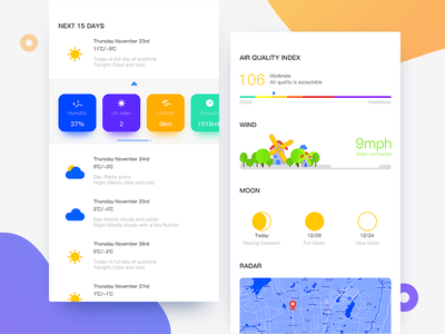 Weather App cold winter weather violet ui simple cloudy card blue app
