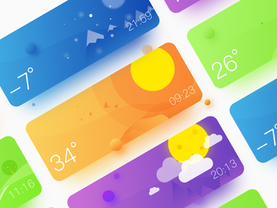 Weather App winter weather violet ui simple cold cloudy card blue app