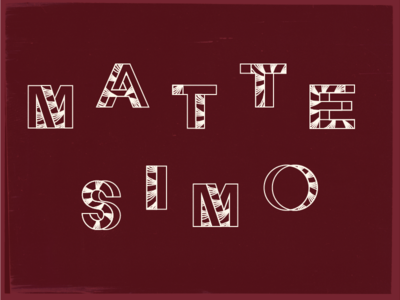 Mattesimo typography rythm italian invite wedding