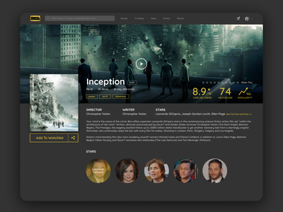 IMDb Redesign app figma design figma minimal design website web ux ui figmadesign