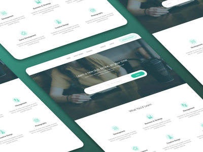 Online Learning Portal Landing Page icon design learning platform landing page design figma design figma minimal design website web ux ui figmadesign