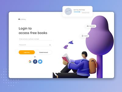 Book library web app landing page design figma design figma minimal design website web ux ui figmadesign