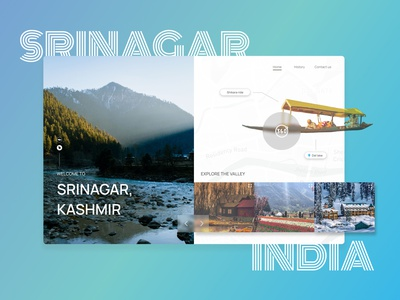 Srinagar - Heaven on Earth dribbbleweeklywarmup rebounds landing page design figma design figma design website web ux ui figmadesign