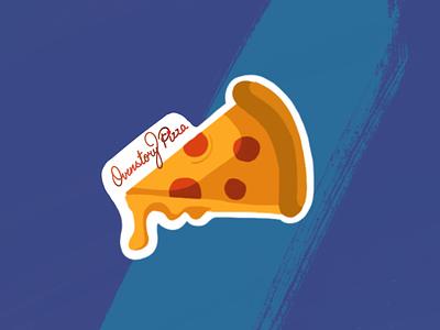 Overstory pizza Sticker procreate sticker design food pizza illustration art illustrations dribbbleweeklywarmup dribbble