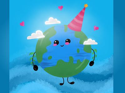 Happy Earth Day :) procreate drawing earth dribbble dribbbleart illustration earthday dribbbleweeklywarmup