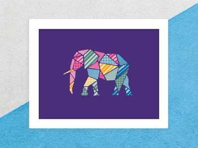 Elephant pattern design weekly challenge weeklywarmup figma vectorart design pattern design procreate vector elephant patterndesign