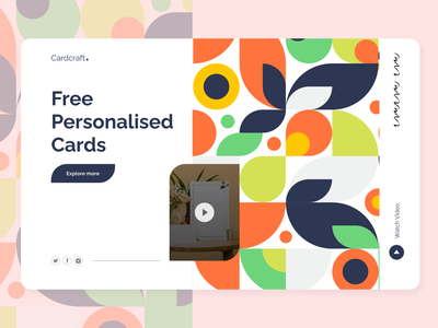 Personalised Card Portal Landing Page desktop figma design cards patterns dribbble minimal website web ui ux design figmadesign landing page figma