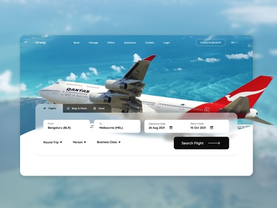 Flight Booking Landing Page illustration figma website web ui design ux figmadesign