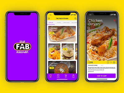 The Fab Kitchen - Food Ordering Application