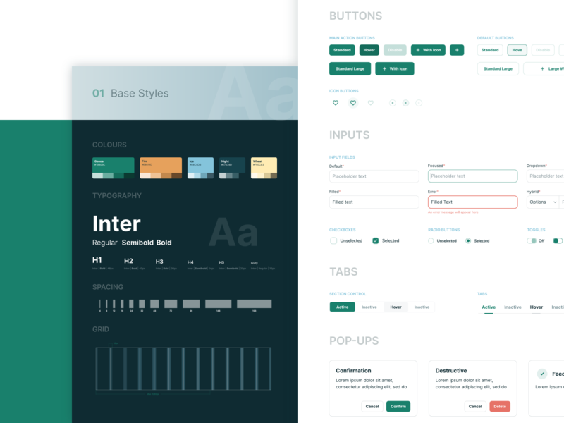 Design system for propforce web user interface ui design web style guide design system