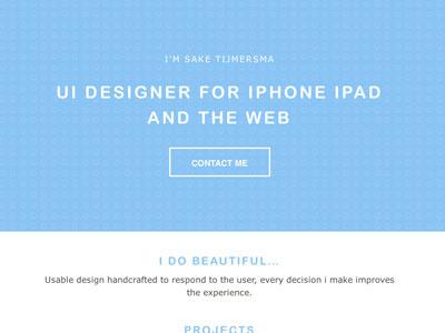 Sake Tijmersma UI Designer clean website design flat