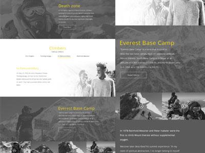 Chomolungma real pixels. mountain landing page website web ui real pixels