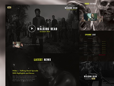 The Walking Dead  design the walking dead webdesign dark